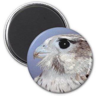 Prairie Falcon 2 Inch Round Magnet