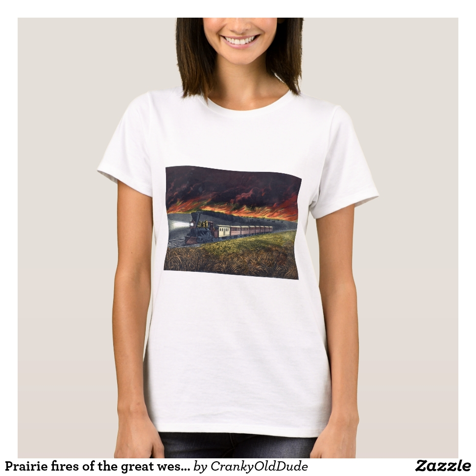 Prairie fires of the great west - 1872 T-Shirt - Best Selling Long-Sleeve Street Fashion Shirt Designs