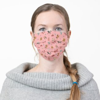 Prairie Flower Cowgirl Pink Facemask Cloth Face Mask