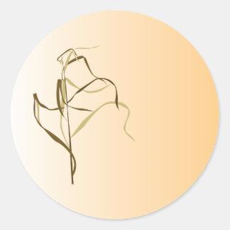 Prairie Grass Design Classic Round Sticker