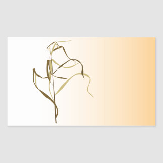 Prairie Grass Design Rectangular Sticker