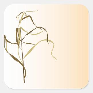 Prairie Grass Design Square Sticker