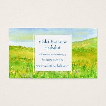 Professional Business Prairie Grass Wildflower Meadow Herbal Business Card