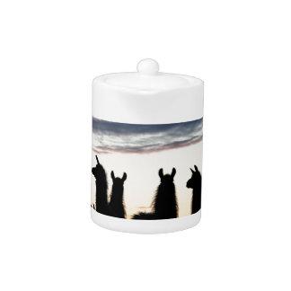 Prairie Llama silhouette Teapot