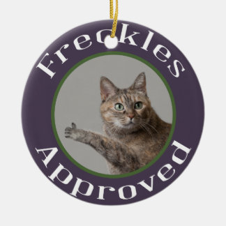Prairie Paws Animal Shelter Freckles Approved Ceramic Ornament