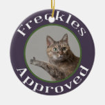 Prairie Paws Animal Shelter Freckles Approved Double-Sided Ceramic Round Christmas Ornament