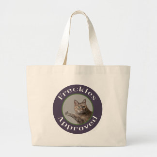 Prairie Paws Animal Shelter Freckles Approved Large Tote Bag