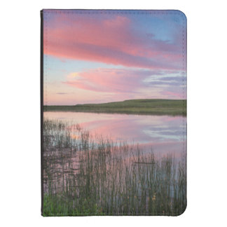 Prairie Pond Reflects Brilliant Sunrise Clouds Kindle Cover