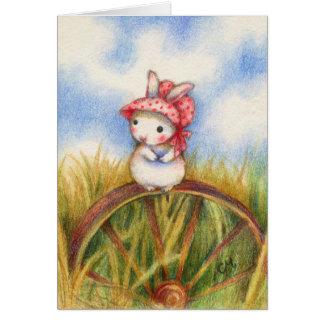 Prairie Rabbit - Cute Animal Art Card