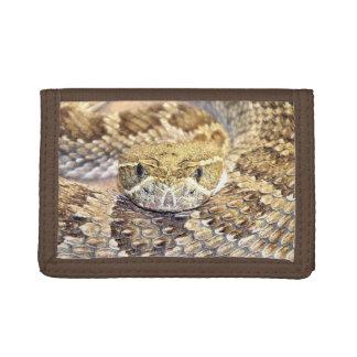 Prairie rattlesnake tri-fold wallet