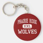 Prairie Ridge - Wolves - High - Crystal Lake Key Chain