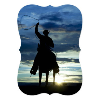 Prairie riding rope cowboy card