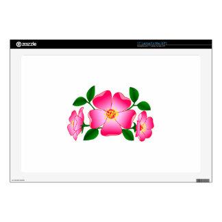 "Prairie Rose Decal For 17"" Laptop"