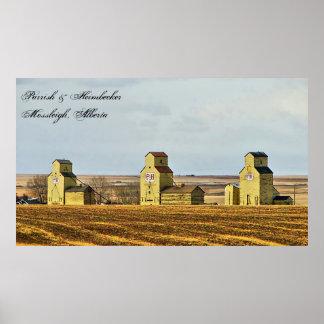 Prairie Sentinels Mossleigh Alberta Poster