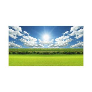 Prairie sky landscape 20 Stretched Canvas Print