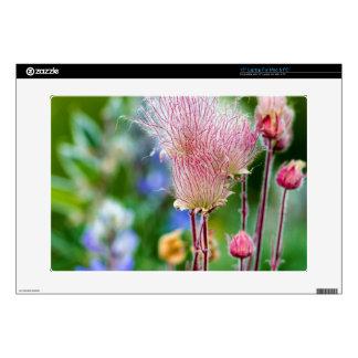 "Prairie Smoke Wildflowers In Aspen Grove 2 15"" Laptop Skin"