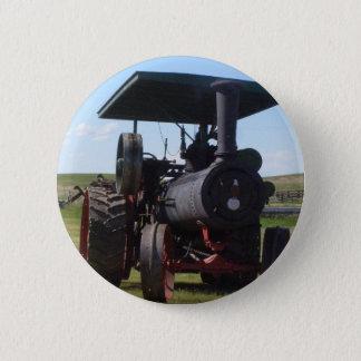 Prairie Steam Tractor Pinback Button