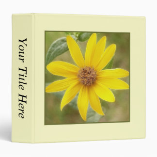 Prairie Sunflower - Helianthus maximilianii 3 Ring Binder