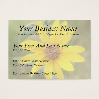 Prairie Sunflower - Helianthus maximilianii Business Card