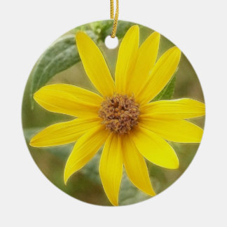 Prairie Sunflower - Helianthus maximilianii Ceramic Ornament