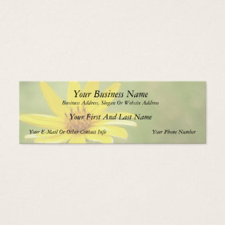 Prairie Sunflower - Helianthus maximilianii Mini Business Card