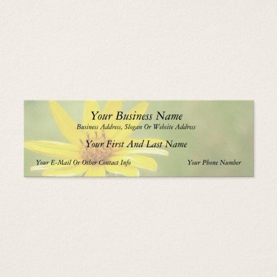 Prairie Sunflower - Helianthus maximilianii Mini Business Card
