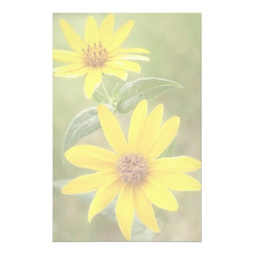 Prairie Sunflower - Helianthus maximilianii Stationery Paper