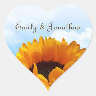 Prairie Sunflower Personalized Wedding Sticker