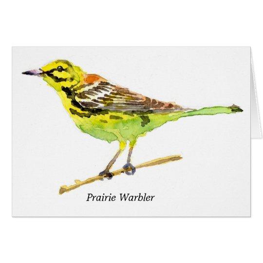 Prairie Warbler Card