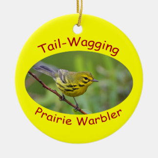 Prairie Warbler Ceramic Ornament