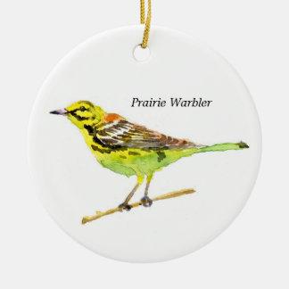 Prairie Warbler Christmas Tree Ornament