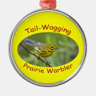 Prairie Warbler Metal Ornament