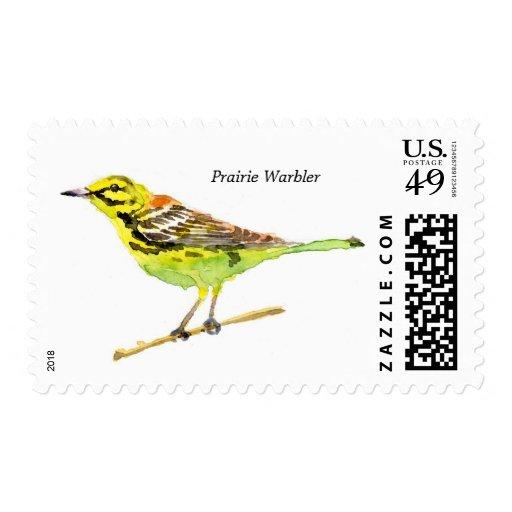 Prairie Warbler postage
