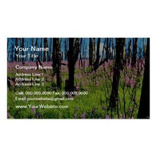 Prairie wildflower, fireweed growing in forest bur business card