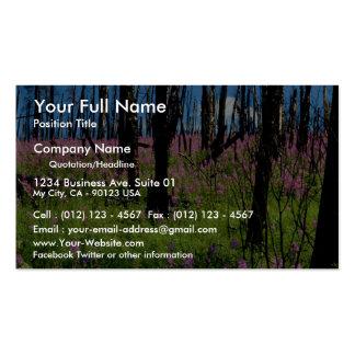 Prairie wildflower, fireweed growing in forest bur business card templates