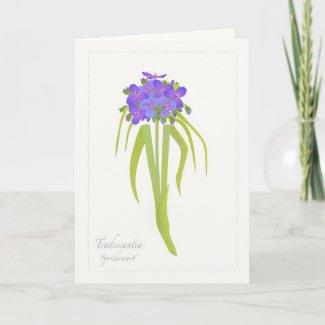 Prairie Wildflower Greeting Card card