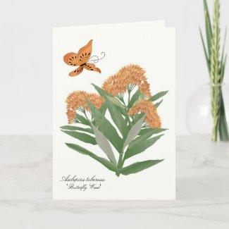 Prairie wildflower greeting/notecard zazzle_card