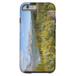 Prairie wildflowers and Lower Two Medicine Lake Tough iPhone 6 Case