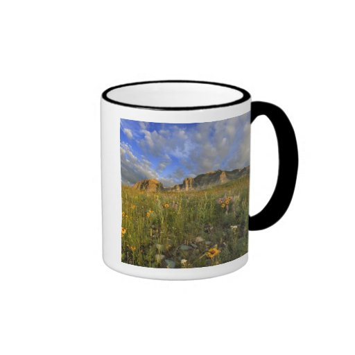 Prairie Wildflowers at Windy Creek in the Many Ringer Coffee Mug