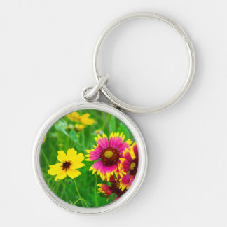 Prairie wildflowers in Hill Country Keychains