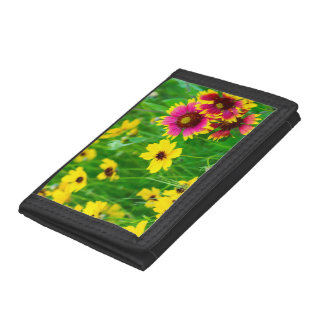 Prairie wildflowers in Hill Country Tri-fold Wallet