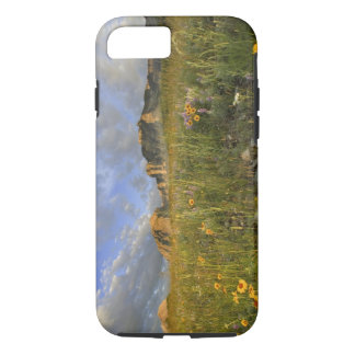 Prairie Wildflowers in Many Glacier Valley at iPhone 7 Case