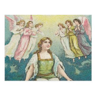 Praise - A women praising God Postcard