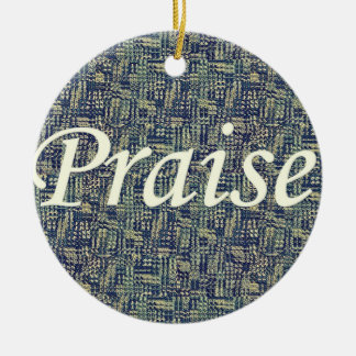 Praise Among The Panes Ceramic Ornament