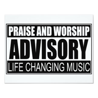 Praise And Worship Advisory... Card