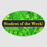 """[ Thumbnail: Praise + """"Forest"""" of Green Triangle Shapes Pattern Sticker ]"""