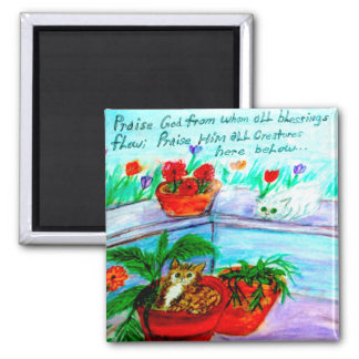 Praise God from Whom All Blessings Flow 2 Inch Square Magnet