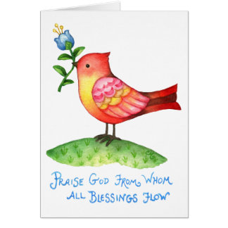 Praise God from Whom All Blessings Flow - Card