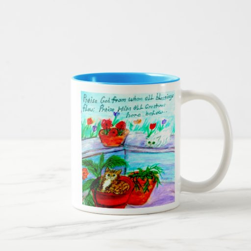 Praise God From Whom All Blessings Flow Two-Tone Coffee Mug