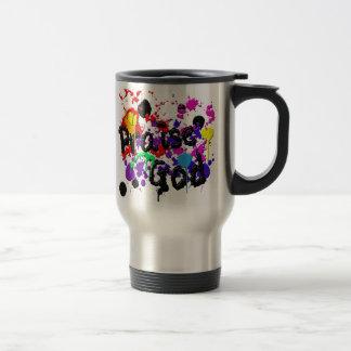 Praise God Paint Splatters Christian Wear 15 Oz Stainless Steel Travel Mug